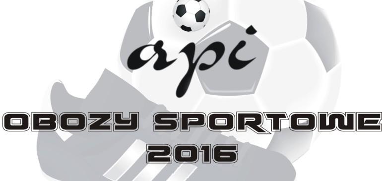 Obozy sportowe API 2016.